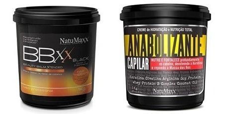 Anabolizante Capilar 1kg + Btx Black 1kg - Natumaxx