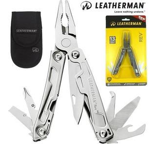 Canivete Leatherman Multifuncional Rev 14 Funções Com Bainha