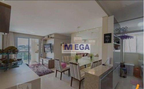 Imagem 1 de 15 de Apartamento Com 3 Dormitórios À Venda, 68 M² Por R$ 455.000 - Vila Satúrnia - Campinas/sp - Ap5223