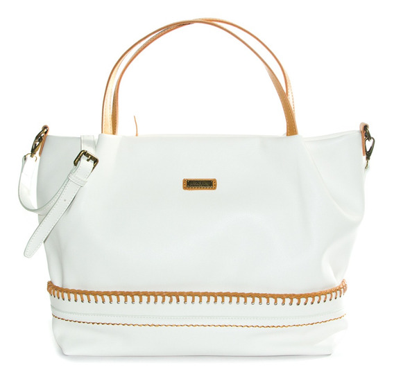 Grisel Cartera Blanco Xl Extra Large Mujer