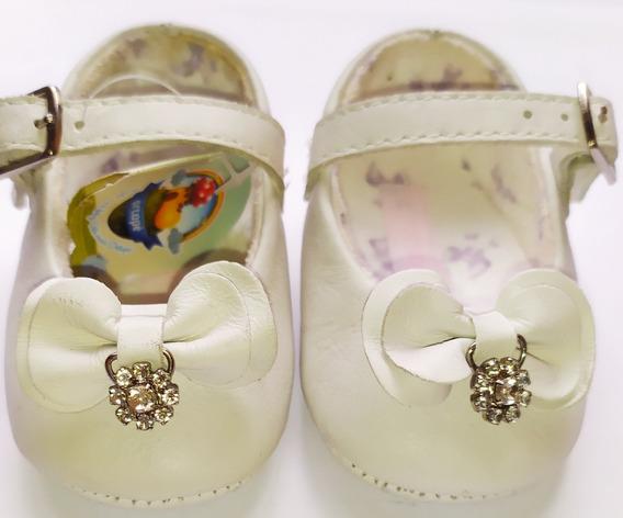 Zapatos Ortopé Blancos De Bebé / Niña