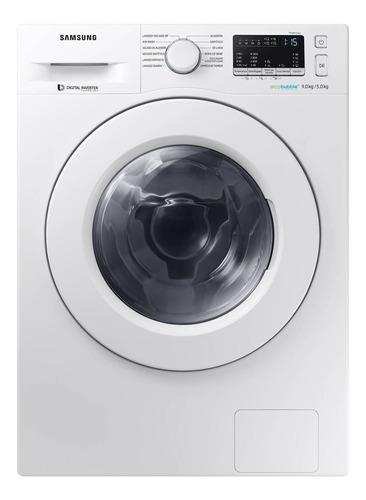 Lavasecarropas automático Samsung WD90M4453 blanco 9kg 220V
