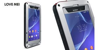 Forro Estuche Armor Sony Xperia Z2 Love Mei Aluminio Silico