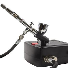 Kit Completo Aerografo + Mini Compressor Para Modelismo