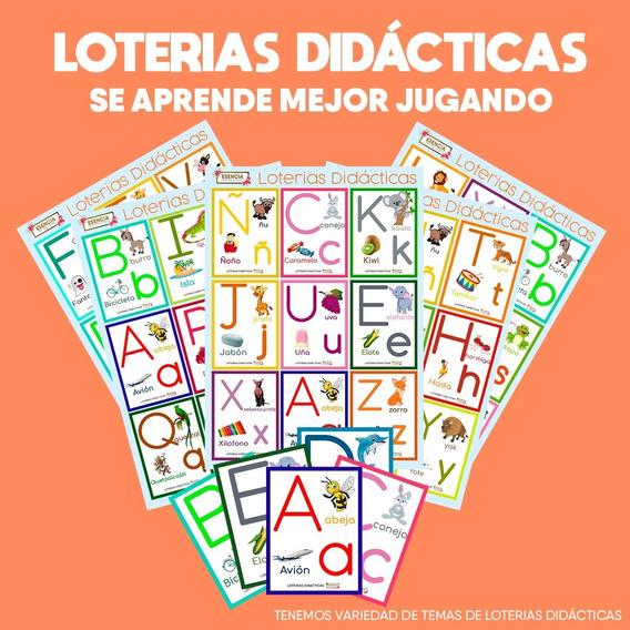 Lotería Didáctica Abecedarios. 10 Paquetes Para Mayoreo