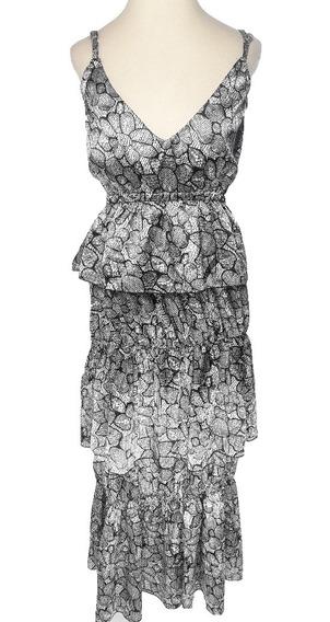 Vestido Solera Mujer Saten Largo Fiesta Moda Bubba V9992