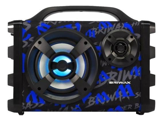 Caixa de som Briwax FBX-112 portátil sem fio Azul 100V/240V
