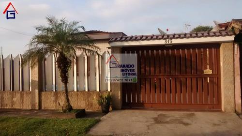Imagem 1 de 15 de Casa Para Venda Em Itanhaém, Balneário Praia Mar, 3 Dormitórios, 1 Suíte, 3 Banheiros, 5 Vagas - 792_1-1506923