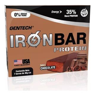 Iron Bar Protein Gentech Barra Proteica X 7 Unidades