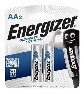 2 Pilas Aa Energizer Litio Ultimate 1.5v Alto Rendimiento