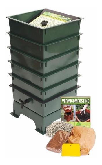 Compostero Lombriz Composta Gusanos 5 Niveles Fertilizante