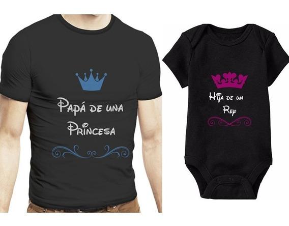 Playera Papá De Un O Una ..frases Disney Niños Envío Gratis