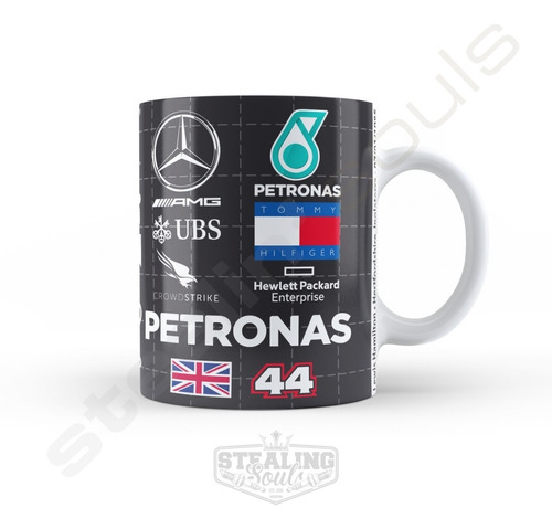 Taza De Porcelana Fierrera - Lewis Hamilton #06 | Formula 1