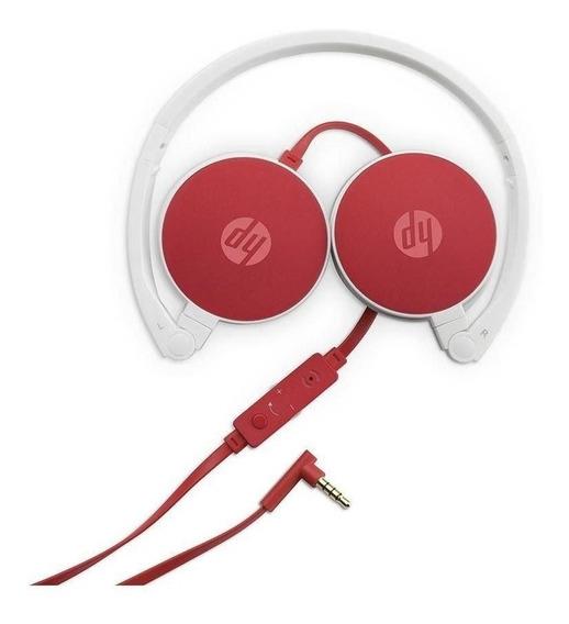 Fone De Ouvido C/microfone Dobrável H2800 Cardinal Red Hp