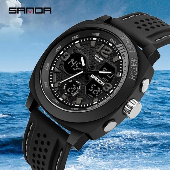 Relógio Sanda 790 Esportivo Mergulhador À Prova D