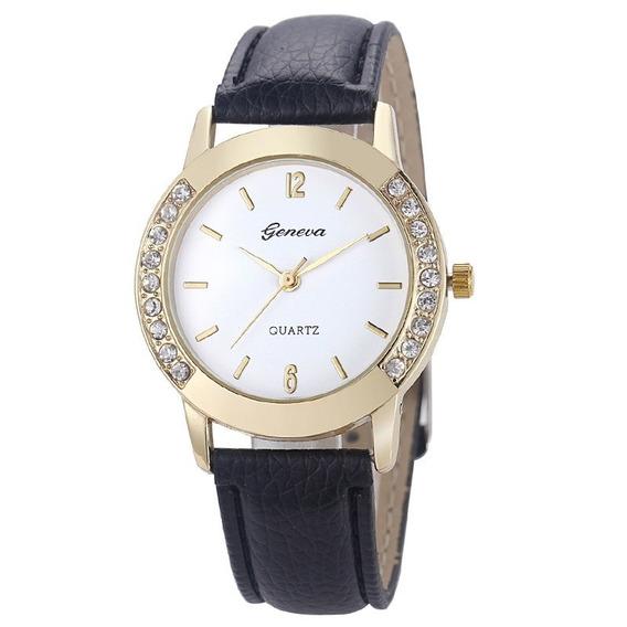 Kit 2 Relógio De Pulso Feminino Vintage De Couro Bracelete