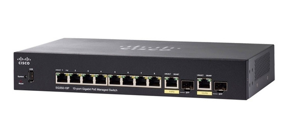 Switch Cisco Sg350-10p-k9-na Gigabit Full Administrable Poe