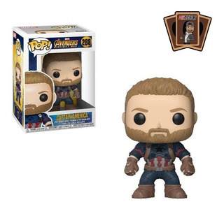 Funko Pop Captain America #288 - Miltienda - The Avengers