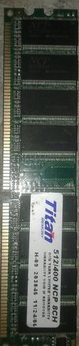 Memoria Ram Ddr512 400mhz 8ch + Memoria Ram Ddrr33 De 128mb