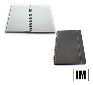 Agenda Espiral Cuaderno A Cuadros Diseño Elegante En Oferta