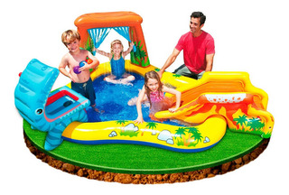 Playcenter Inflable Intex Dinosaurio 249 X 191 X109 Cm