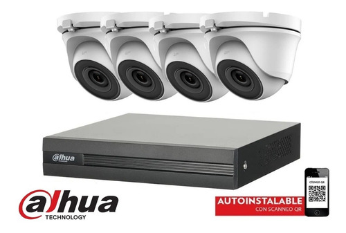 Imagen 1 de 10 de Kit Seguridad Dahua Dvr 4 Camaras 1080p Full Hd Exterior