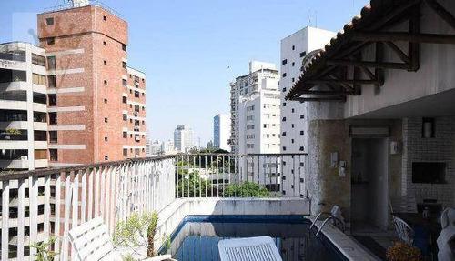 Cobertura Triplex Com 3 Suítes, 367 M² - Venda Por R$ 2.700.000 Ou Aluguel Por R$ 18.000/mês - Real Parque - São Paulo/sp - Co0132