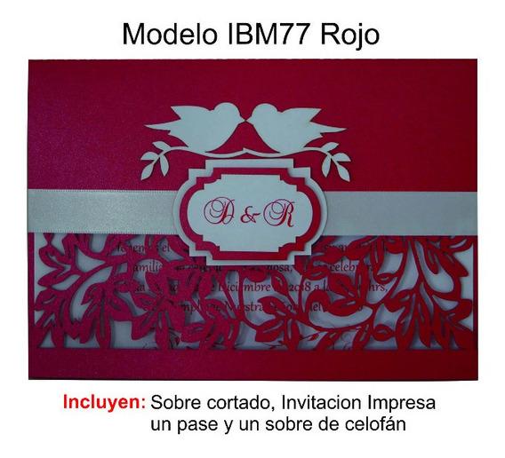 Invitaciones Para Boda Ibm77 Paquete Con 50 Invitaciones