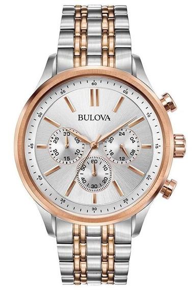 Relógio Bulova Masculino Misto Rose 98a216