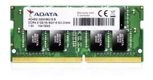 Memoria Ram 8 Gb Pc4-2400r  Sodimm Pc4-21300  Varias Marcas