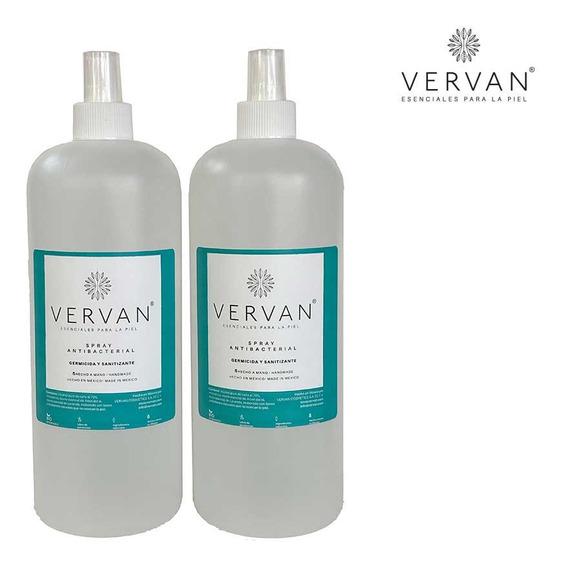 Spray Antibacterial Germinicida Sanitizante 2 Botellas C/1l