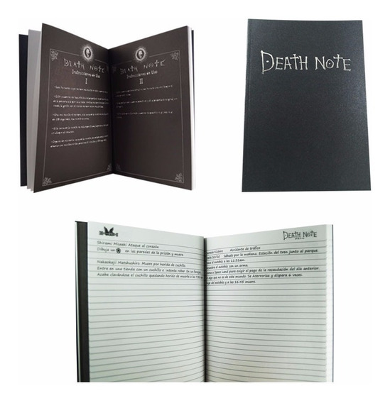 Death Note Libreta Light Tamaño Profesional Kira Shinigami