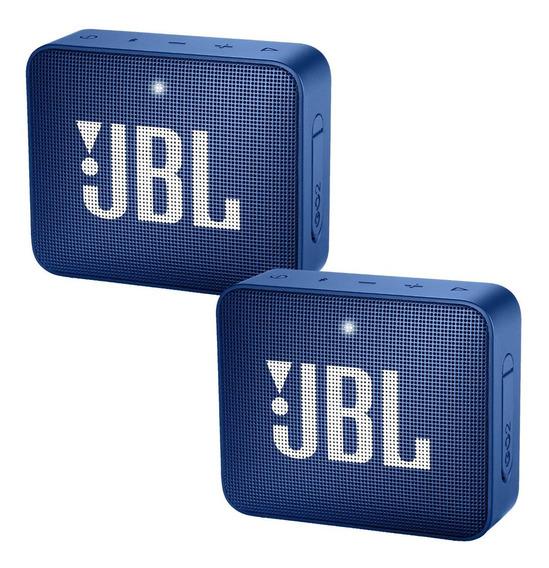 Caixa Jbl Original Azul C/ Bluetooth Kit C/ 2 Unid +garantia