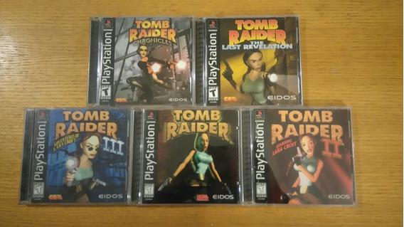 Tomb Raider 1 2 3 Lote Chronicles Ps1 Ps2 Ps3 Playstation 1