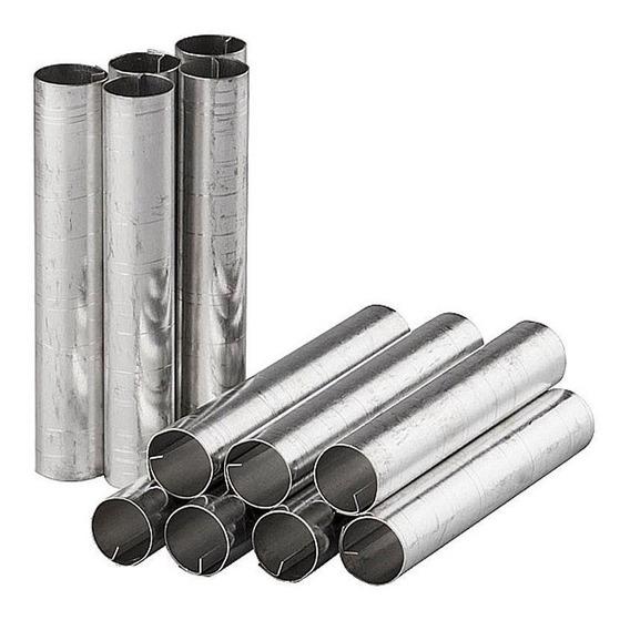Forma Cannolli Fina Kit Com 12 Unidades Em Alumínio