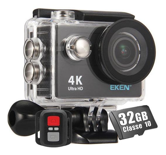 Câmera Esportiva Eken H9r 4k Fullhd + Cartão 32gb Classe 10