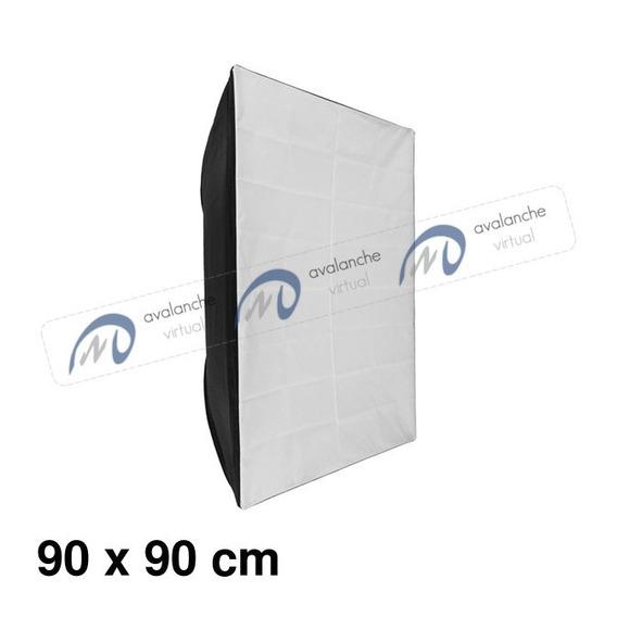Softbox Flash De Estúdio Greika Bowens 90x90 90 X 90 Cm Sk300 Eg-250b
