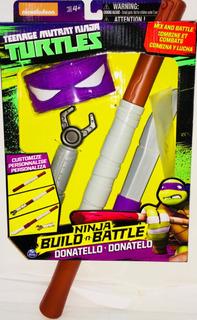 Tortugas Ninja Equipo De Combate Donatelo 36cm Spin Master