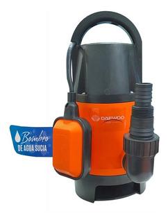 Bomba Sumergible Daewoo 1hp Agua Sucia Cloacal 750w
