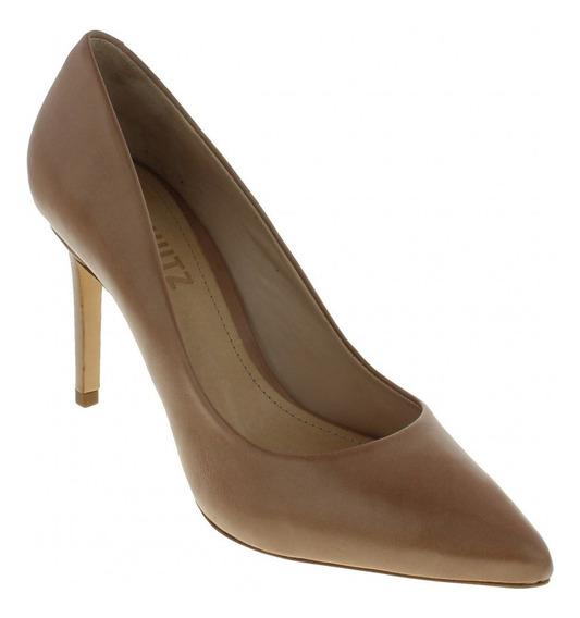Sapato Scarpin Schutz S0172300050587u Original Couro Pêssego