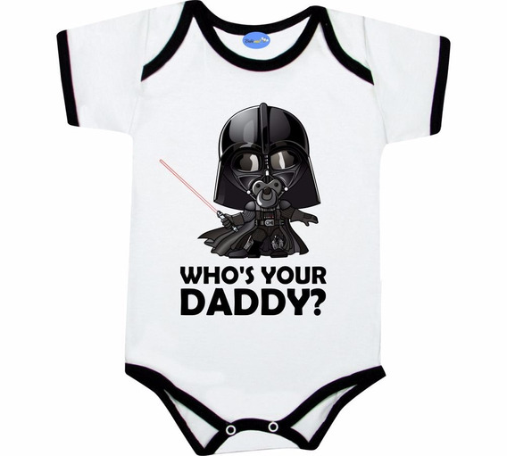 Body Divertido Star Wars Darth Vader Who´s Your Dad Geek