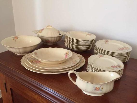 Aparelho Jantar Antigo Porcelana Inglesa J&g Meakin Anos 30