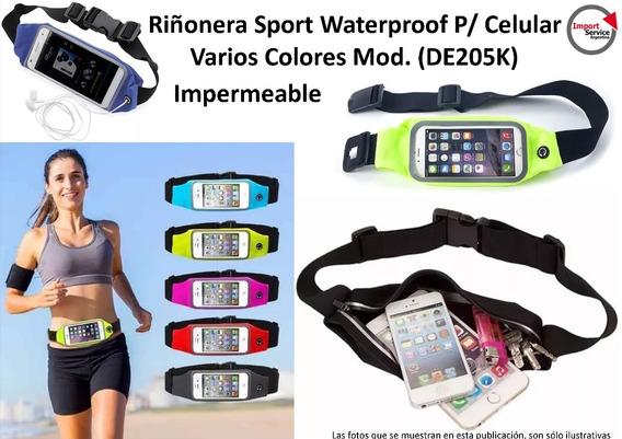 Riñonera Sport Waterproof P/celular Varios Colores (de205k)