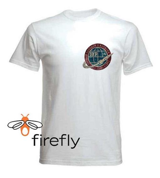 Remera Union Sovietica Cccp Space Hombre Blanco C. 3 Firefly