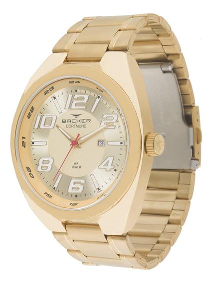 Relógio Masculino Backer Analógico 6412275m - Dourado