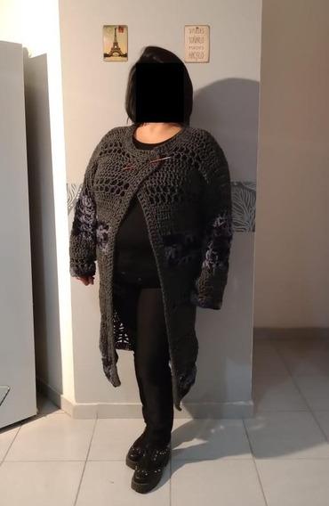 Saco Tejido Crochet Artesanal Manga Larga