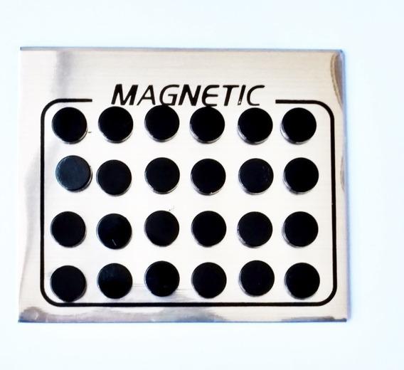 Atacado Revenda 12 Pares De Brinco Magnético Preto 8mm