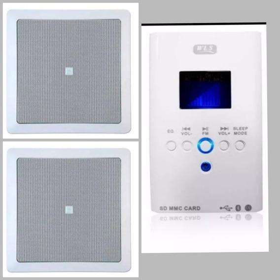 Som Ambiente Amplificador Parede Wls + 2 Caixas Jbl Embutir