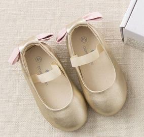 Zapatos Niña Dorados