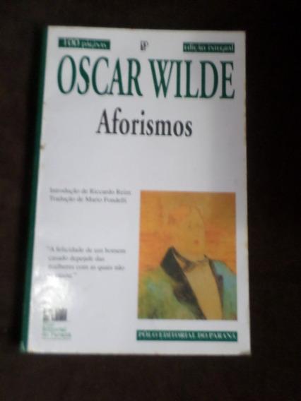 Livro Oscar Wilde Aforismos